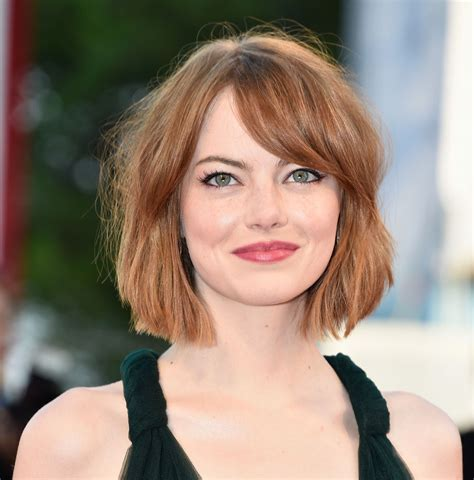 Emma stone natural hair color in 2016, amazing photo