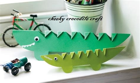 crocodile crafts idea for preschool preschool and 712 | crocodile craft for preschoolers