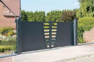 Portail Alu 4m : pilier portail alu portillon leroy merlin maison infos ~ Voncanada.com Idées de Décoration