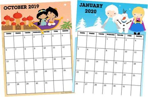 princess calendar homeschool