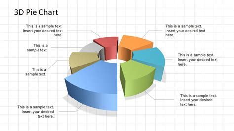powerpoint chart templates 3d pie chart diagram for powerpoint slidemodel