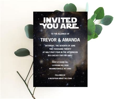 star wars wedding invitations star wars invitation star