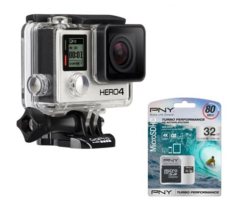 Here are some practical recommendations for sd cards for the gopro hero4 black & silver. Buy GOPRO HERO 4 Action Camcorder, Silver Edition & microSD Memory Card - 32 GB   Free Delivery ...