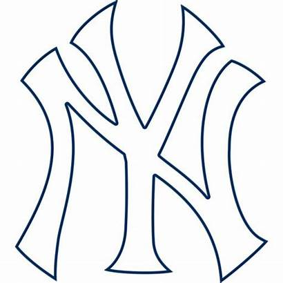 Yankees York Clipart Ny Clip Decal Coloring