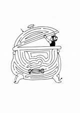 Cauldron Coloring Web Printable Pages sketch template