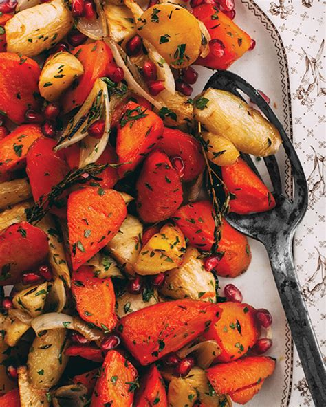 Simple Roasted Root Vegetables With Maple Syrup & Olive