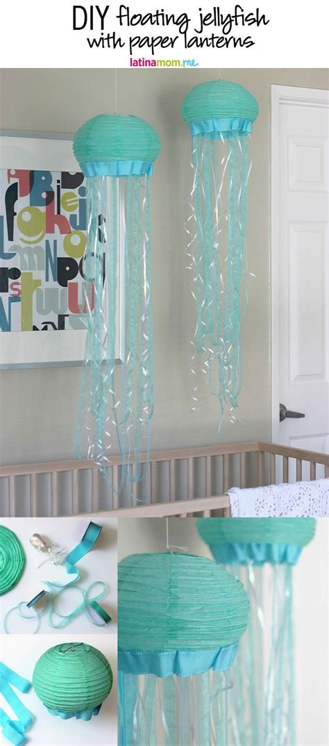 themed bathroom ideas diy paper lantern jellyfish jellyfish decorations paper