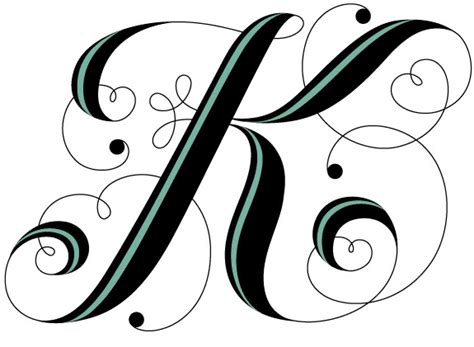 Letter K, Google And Fancy Letters