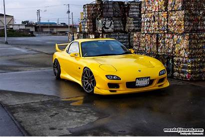 Fd3s Yellow Wheels Sunburst Rx7 Mazda Rx