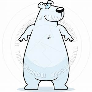 Polar Bear clipart standing bear - Pencil and in color ...