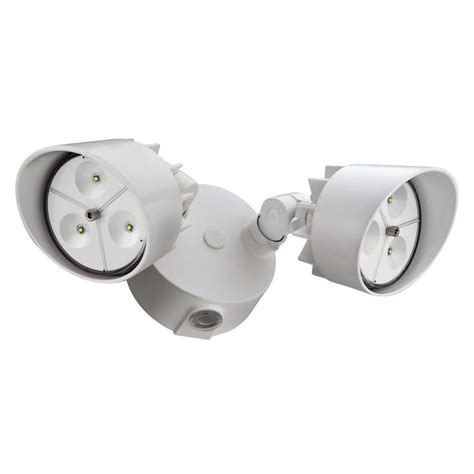 lithonia lighting 2 white outdoor led wall mount flood light oflr 6lc 120 p wh the home depot