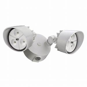 Lithonia lighting head white outdoor led wall mount flood light oflr lc p wh the home depot