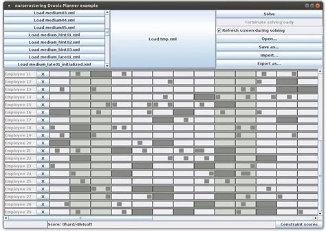 nursing roster templates continuous planning for rostering with optaplanner