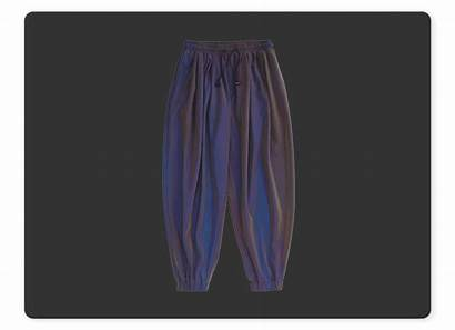 Loose Pants Reflective Beam Woven Laser Feet