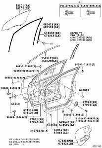 Toyota Rav4 Door Interior Trim Panel  Left  Front   Black