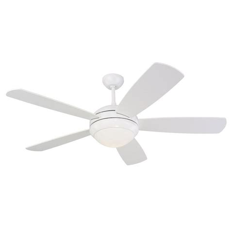 monte carlo 5di52whd l white five bladed 52 inch ceiling