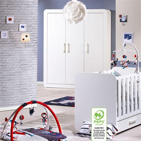 chambre sauthon astride chambre bébé duo astride blanc lit et armoire 3 portes 30