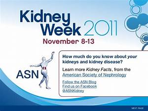 Kidney Facts From American Society Of Nephrology