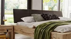 Bett Mit Gepolstertem Kopfteil : doppelbett aus astkernbuche mit kunstleder kopfteil busto ~ Sanjose-hotels-ca.com Haus und Dekorationen