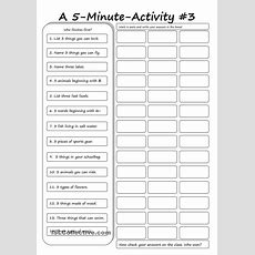 A 5minute Activity #3  English  English Activities, Teaching English, English Games