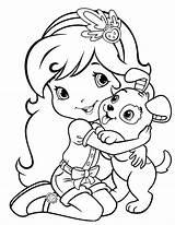 Coloring Strawberry Shortcake Dog Funny Pupcake Ranch Kolorowanki Para Cartoon Had Dibujos Called Princess Printables Frutillita Pintar Imprimir Sheets Malvorlagen sketch template