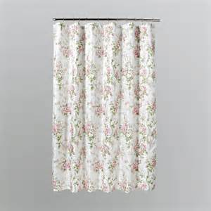 home solutions emily pink floral shower curtain home