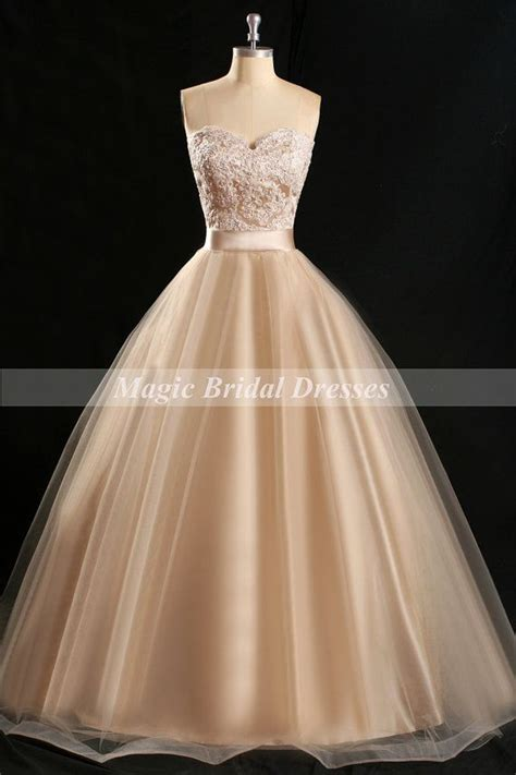 pearl pink champagne prom dress classical ball gown design