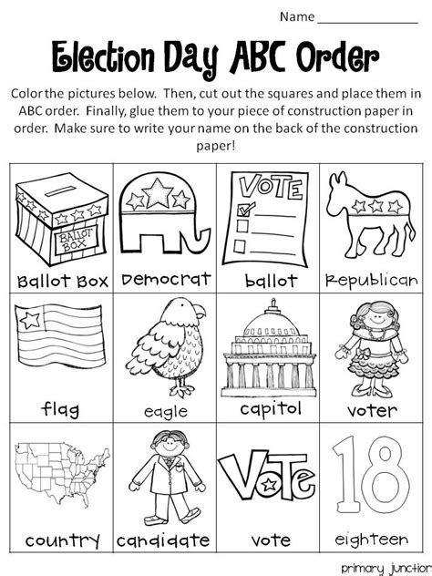 election day freebie classroom freebies