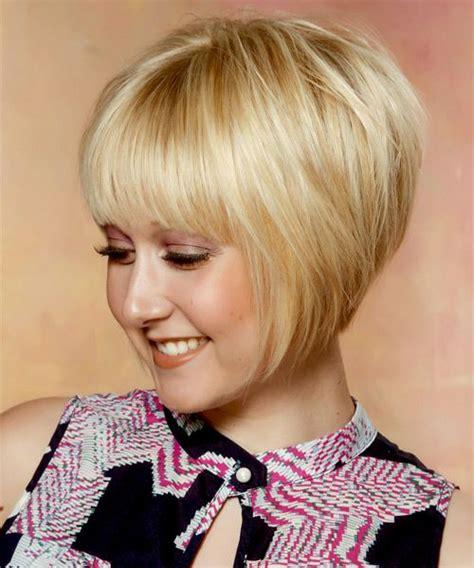 short straight formal bob hairstyle  layered bangs