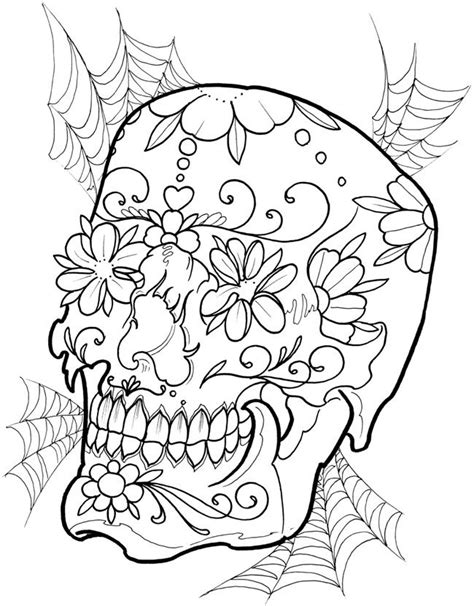 Creative Haven Floral Tattoo Designs Coloring Book Dover Publications | Skull coloring pages