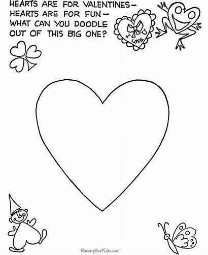 Valentine Preschool Coloring Pages Valentines Crafts Craft