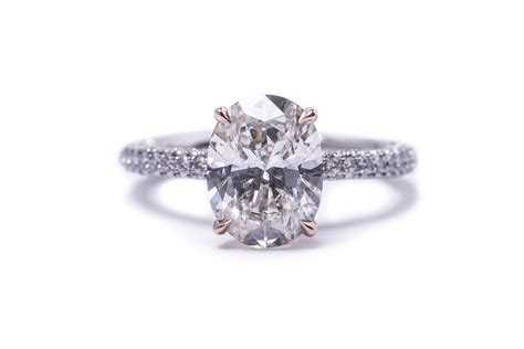 oval cut diamond engagement ring  pave atlantas