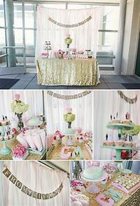 847 best gold pink party images on pinterest birthdays With wedding shower decor