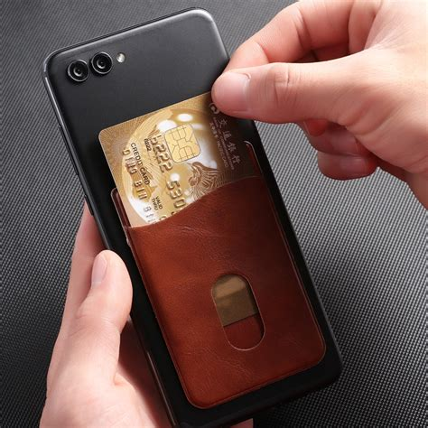 It's so thin and compact it won't add bulk or make your phone harder to carry. 1PC Men Business Leather Card Holder Sticker Adhesives Credit ID Card Mobile Phone Back Pocket ...