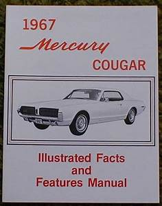 1967 Mercury Cougar Facts Manual Brochure 67