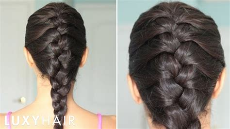 basic french braid youtube