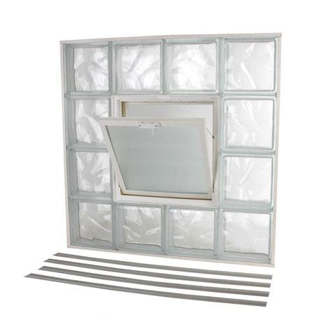 tafco windows      nailup wave pattern glass block window nu   home