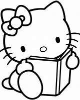 Coloring Easy Pages Hello Kitty sketch template