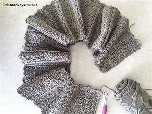 Crochet Infinity Scarf With Fringe Pattern ~ Dancox for
