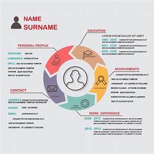 Plantilla de currículum infográfico : Modelo Curriculum