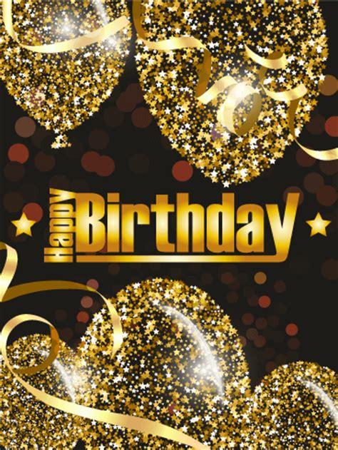 golden birthday balloon card birthday greeting cards