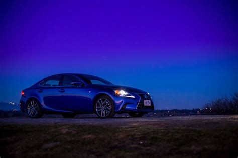 lexus is blue ultrasonic blue lexus is f sport at dusk for your desktop