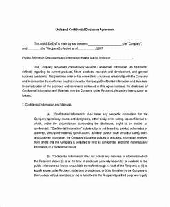 confidential disclosure agreements sample mutual With cda agreement template