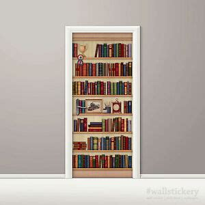 bookshelf mural bookshelf wallpaper door mural photo clock poster wall