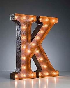 vintage marquee lights ready to ship letter k With initial letter lights