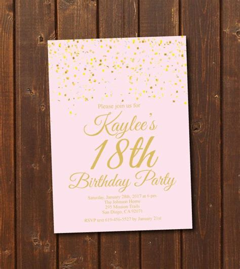 age  colorth birthday invitationprintable gold