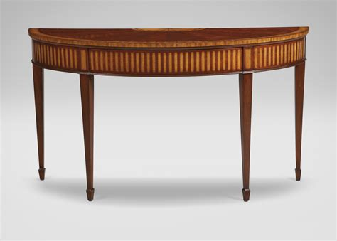 ethan allen sofa table newman demilune sofa table console tables