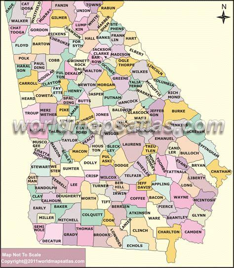 Political Map Of Georgia.Current Political Map Georgia
