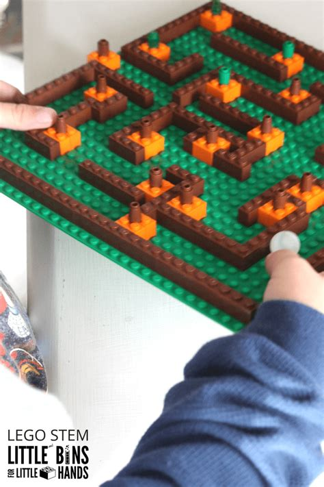 pumpkin patch lego maze fall stem activity  kids