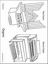 Coloring Organs Organ Pipe Drawing Pages Abcteach Instrument Printable Getcolorings Getdrawings Musical sketch template